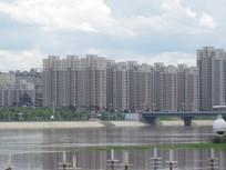 江边的高楼大夏建筑图片