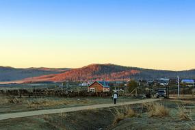 中俄边境乡镇室韦清晨