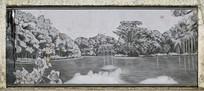 湖泊风景壁画艺术图片