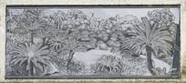 树木风景壁画图片