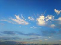 湛蓝天空风云美