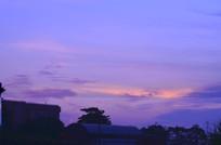 紫色的晚霞风光图片