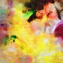 抽象油画喷绘画素材