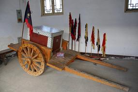 古代镖局木板车