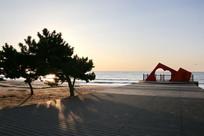 海滩观景台