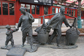 铜雕闯关东雕像