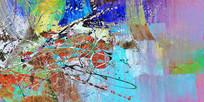 抽象油画 背景 背景墙 壁画