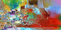 国外抽象油画 背景墙 抽象画 无框画