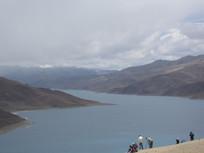 湖泊山色风景图片