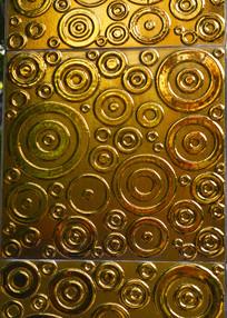 金色圆形图案背景墙素材