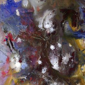 流彩  抽象油画