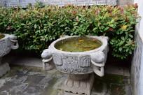石头雕刻景观水池