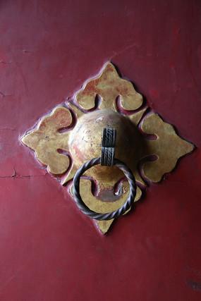 铁艺花纹门扣