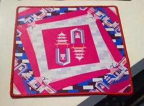 蜀锦鼠标垫之塔型纹锦