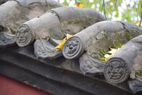 寺庙建筑的狮面瓦当
