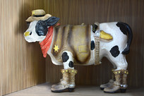 西部牛雕塑