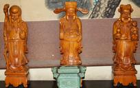 福禄寿三星木雕像图片
