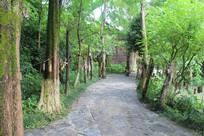 古东景区内一条石板路