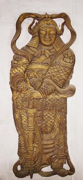 金色的古装人物雕像