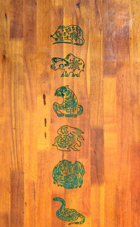 木板雕刻-十二生肖木雕