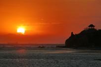 北戴河鸽子笼公园海上日出