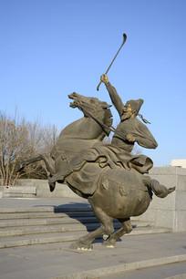 唐代马球雕塑