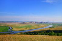 原野河流风景