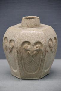 清代石湾窑月白釉茶叶罐
