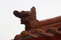 传统建筑琉璃瓦龙头