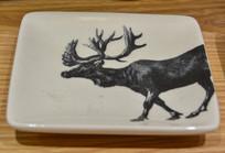 麋鹿绘画盘子