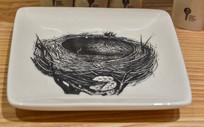 鸟巢绘画盘子