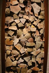 古代碎陶片背景素材