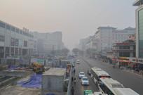 雾霾中的城市