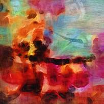 壁画 抽象油画