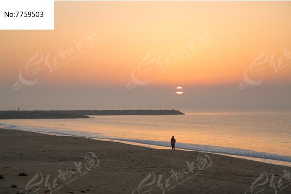 海边日出自然风光图片