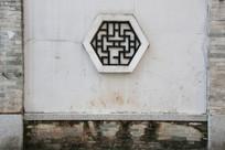 青砖白墙背景图案