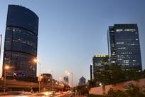 夜景北京高层建筑