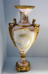 法国彩绘陶瓷装饰罐