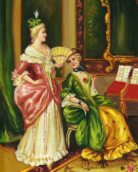 贵族油画 贵妇油画 宫廷油画高清图