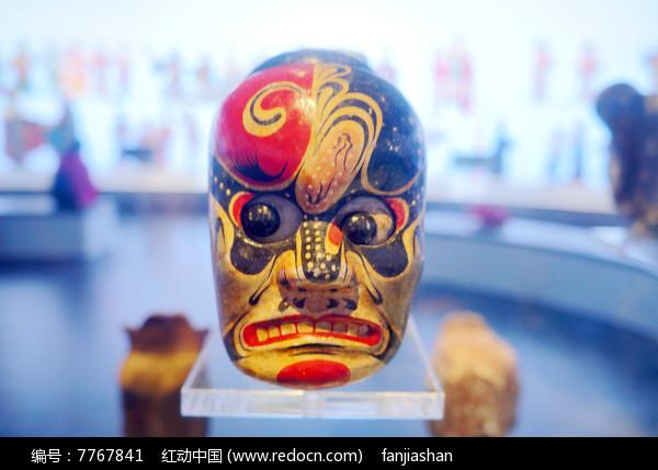 民国初年陕西西安杖头木偶头之瞪眼人图片