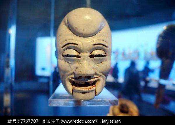 民国初年陕西西安杖头木偶头之老者图片