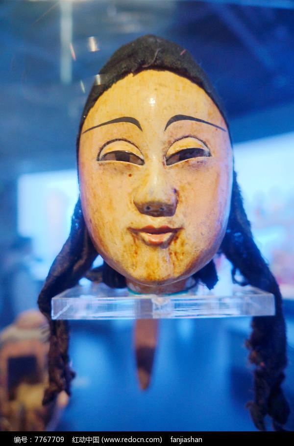 民国初年陕西西安杖头木偶头之女人图片