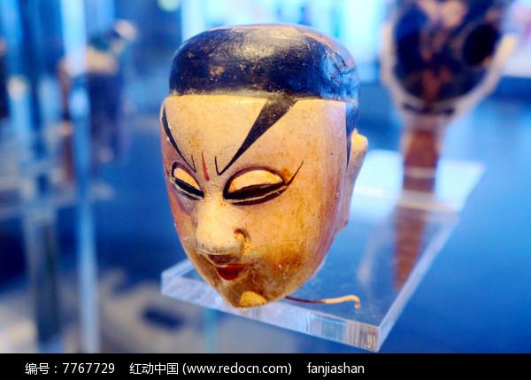 民国初年陕西西安杖头木偶头之武人图片