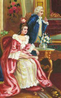 欧式风格宫廷贵妇油画