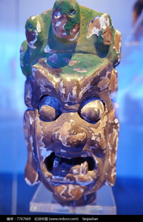 清代甘南地区的杖头木偶头千里眼图片