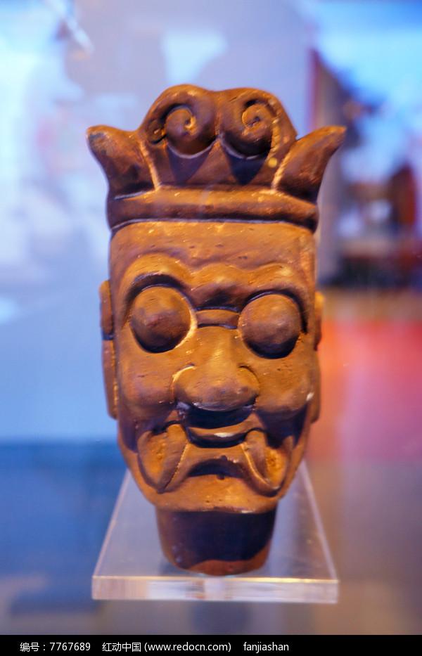 清代甘南地区的杖头木偶头瞎眼图片