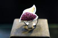满天星紫色钻石戒指