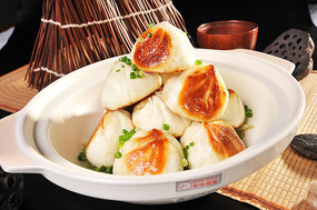砂锅葱煎包