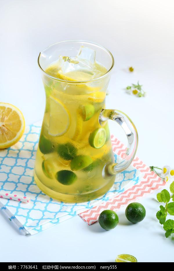 鲜桔柠檬茶饮品图片