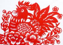 公鸡剪纸吉祥图案